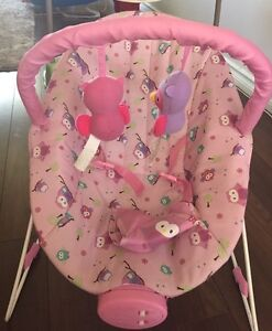 Baby's vibrating chair with music