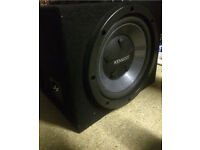 12inch Kenwood subwoofer 800 watts with sub box and 500 watt amp