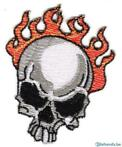 Embleem Patch Skull on fire