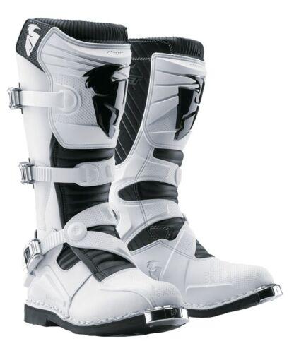 Thor 2012 Ratchet Boot White Black Motocross Size 13