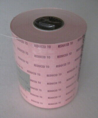 8 Rolls Paxxar Pricing Gun Monarch 1110 Senso Labels Pink Reduced To Sale Tags