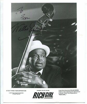 blues legend WILLIE DIXONsigned AUTOGRAPH 4436