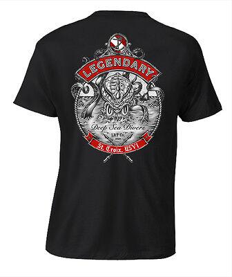 Kraken Salt Life Style Mens Black Dive T Shirt  New  S M L Xl 2Xl 3Xl 4Xl 5Xl
