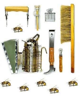 7pcs Set Of The Beekeeper Profi Starter Kit Bees Tools Catcher Hive Tool