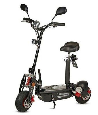 Patinete electrico 1000w 45km/h scooter con sillin plataforma matriculable negro