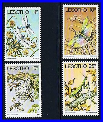 LESOTHO 1978 INSECTS mnh DRAGONFLIES, WASPS (K-LM-DEC) (TOO EXPENSIVE?)