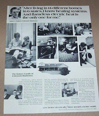 1972 Print Ad   Electric Entergy Home Hear Heating Rainey Family Edmond Oklahoma