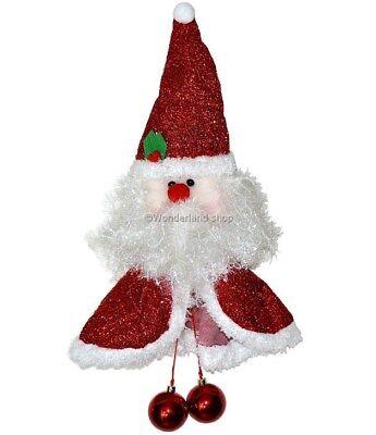 Dietroporta Natalizio BABBO NATALE 65cm Palline Fuoriporta Decorazioni di Natale