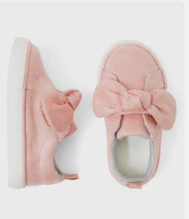 petal pink bow sneakers toddler girls size