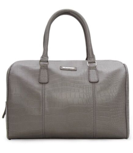 Tasche Mango mit Logo Handtasche Damen Bowlingtasche Shopper Kroko-Optik NEU OVP