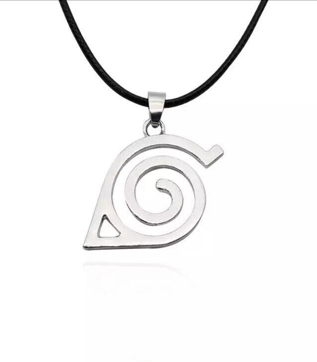 Naruto Konoha Sign Necklace Anime Fashion Jewelry Cosplay