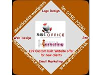 Custom Designed Logo , Website design, Marketing & Printing Services