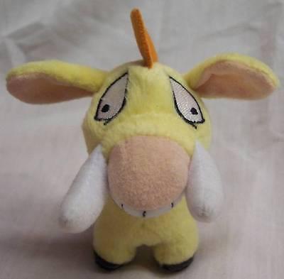 """McDonald's Neopets YELLOW MOEHOG 4"""" Plush STUFFED ANIMAL Toy"""