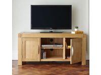Solid oak tv stand from oak furniture land
