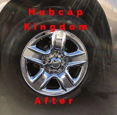 2006 2012 Toyota RAV4 5 spoke 17 Steel Wheel CHROME Skins Hubcaps Covers SET