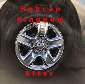 """2006-2012 Toyota RAV4 5-spoke 17"""" Steel Wheel CHROME Skins Hubcaps Covers SET"""