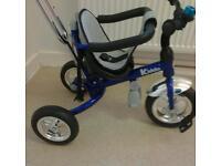 Kiddo 2016 Blue Smart Design 4-in-1 Childrens Tricycle Kids Trike