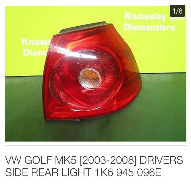 Vw golf 2006 right rear car light