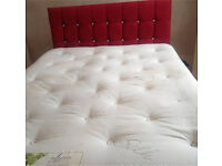 4 drawer king size bed with mattress and headboard