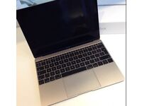 Apple Macbook 12inch 8GB|256Gb GOLD (Like New condition) with adapters worth £75!!
