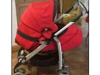 Silver Cross 3D Travel System in rouge with accessories