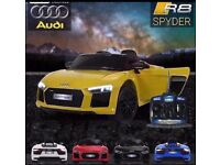 Licensed Audi R8 ride on car with remote control music and lights (leeds) only £160