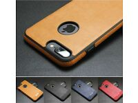 Luxury PU Leather Back Skin Case For iPhones