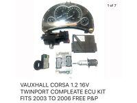 Vauxhall corsa ECU kit
