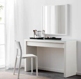 IKEA Malm desk with glass top £60