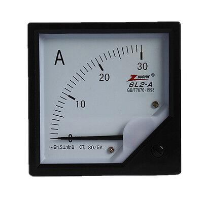 1pcs 6l2 80mm X 80mm Square Panel Ac 30a Analog Amp Meter Ammeter Pointer