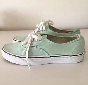 VANS SKATE SHOES MINT GREEN - AU 8.5 Bedford Bayswater Area Preview