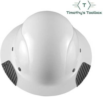 Lift Safety Hdf-15wg Dax White Full Brim Hard Hat