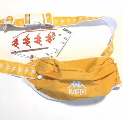 Kappa UO Anais Sling Bag Fanny Pack Authentic New with Tags Yellow White Small