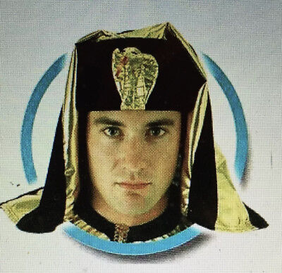 DELUXE Pharaoh Adult Costume Accessory Arab BIBLICAL Mantle Pantheon Head Piece