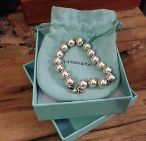 Tiffany's 10mm Silver Bead Bracelet