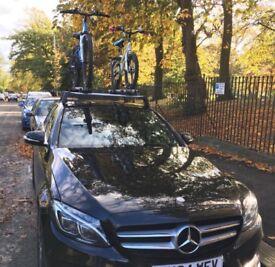 Mercedes C Class Roof bars bike rack holder
