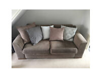 Next light brown textile sofa - Great Condition