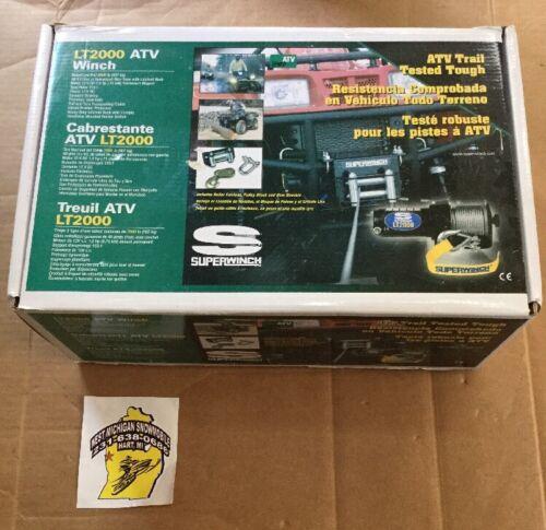 SuperWinch LT2000 ATV Winch P/N 1120210 NOS 12V DC 2000lbs