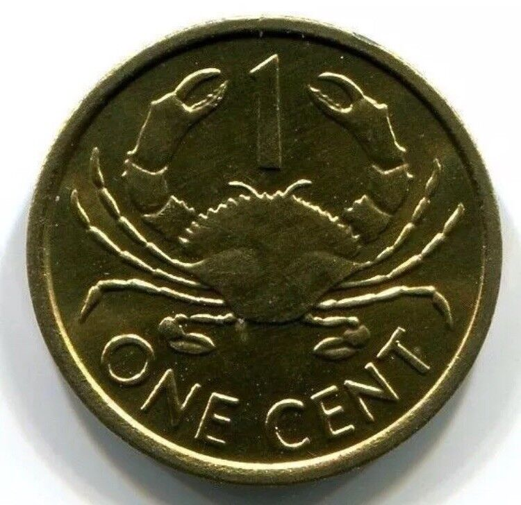 SEYCHELLES 1 Cent, 2012, Crab, UNC World Coin