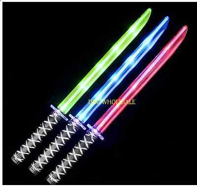 Light Up Sword lightsable star LED Motion Activated Sound Flashing Ninja Pirate - Sword Sound