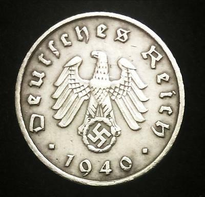 Rare Antique Nazi 5Pf Coin with Big EAGLE & SWASTIKA Authentic WW2 - Artifact