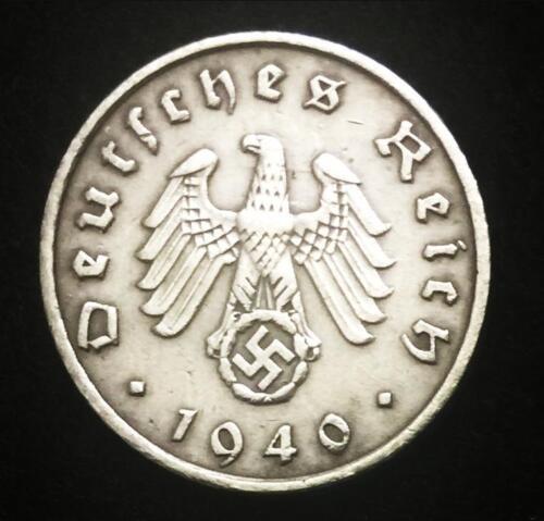 Rare Antique German WW2 1 Reichspfennis Coin Big EAGLE Authentic - Artifact