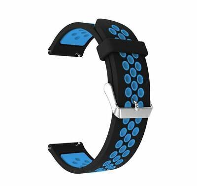 Cinturino Unisex Forato Anti Sudorazione per Huami Amazfit Bip Blu e Nero