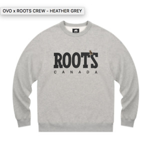 Ovo x Roots (October's very own) crew neck, brand new, grey