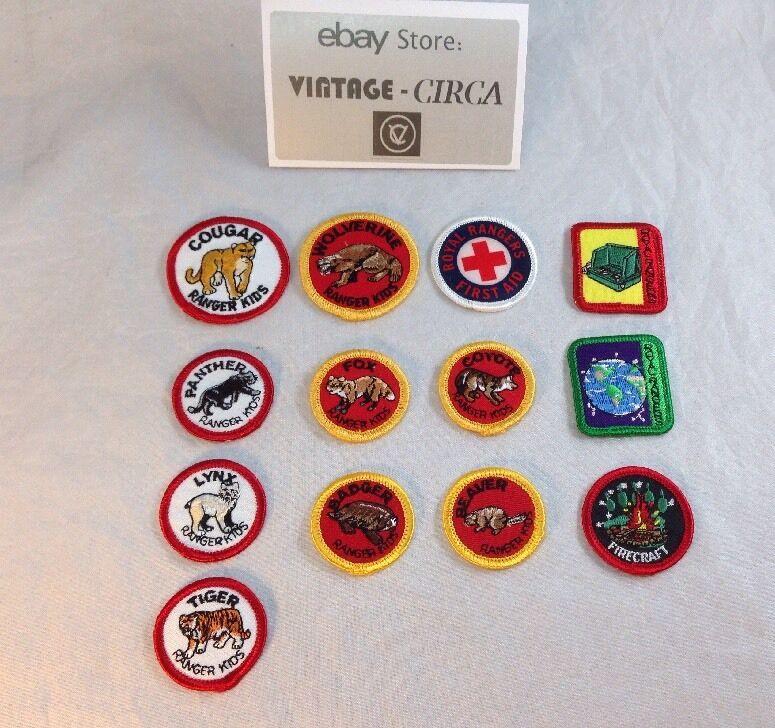 Lot of 13 ROYAL RANGER CAMP Patches, Kids BSA, Scout, Uniform Patch HUGE Set NEW