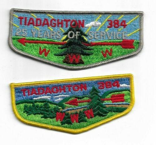 boy scout oa TIADAGHTON lodge 384 set of 2 flaps mint