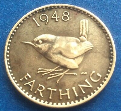 1948 KING GEORGE VI FARTHING COIN 70TH BIRTHDAY / ANNIVERSARY