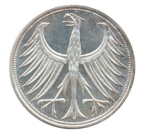 1965 G German Federal Republic 5 Mark KM# 112.1 Proof Silver European Coin