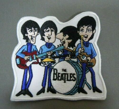 The BEATLES Performing  - Cartoon TV Series - Embroidered Iron-On Patch - 3 ""