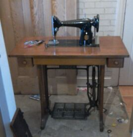 Antique vintage treadle singer sewing machine table